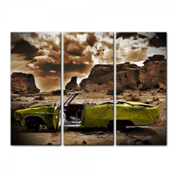 Leinwandbild - Cadillac - gelb sepia