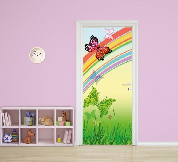 Türaufkleber - Kinderbild Schmetterlinge