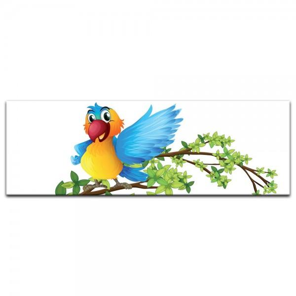 Leinwandbild - Kinderbild - Papagei