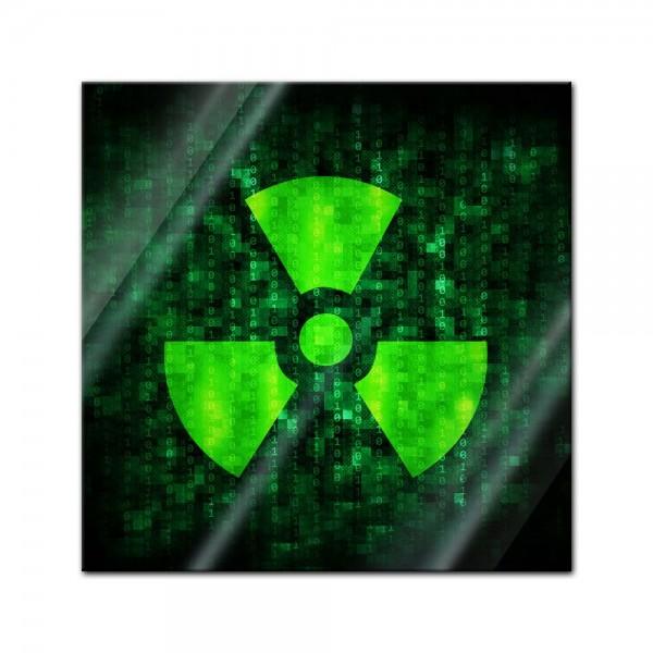 Glasbild - Radioaktiv