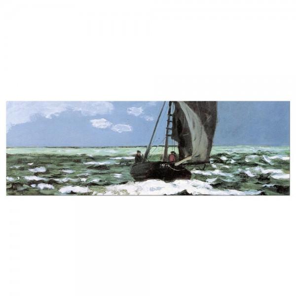 Leinwandbild - Claude Monet - Stürmische See