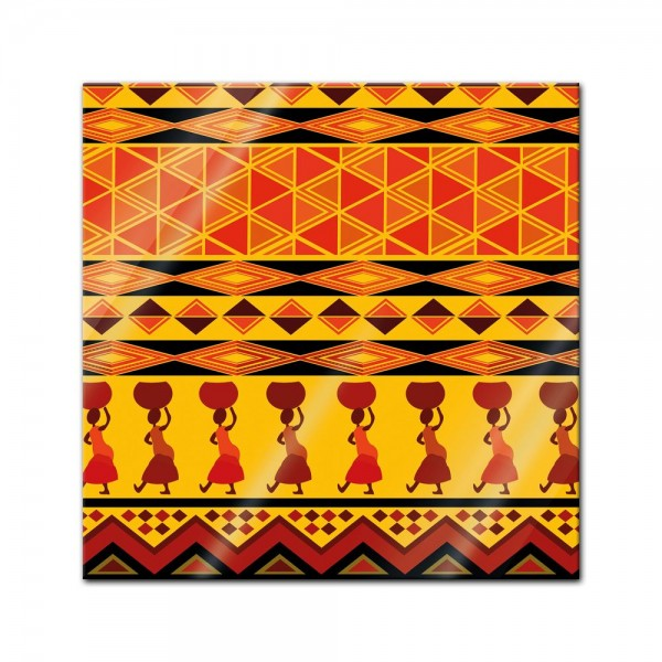 Glasbild - Afrika Design