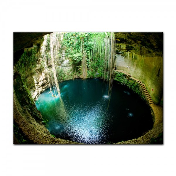 Leinwandbild - Ik-Kil Cenote Mexiko