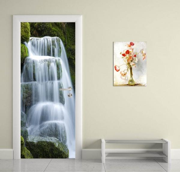 Türaufkleber - Wasserfall