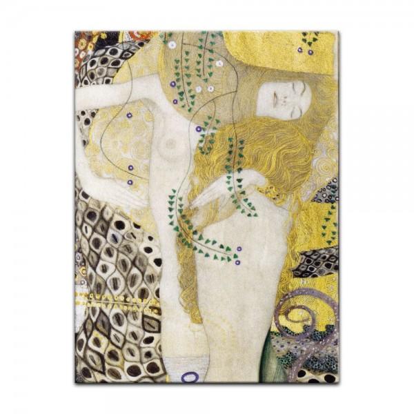 Leinwandbild - Gustav Klimt - Wasserschlangen I (1904-07)