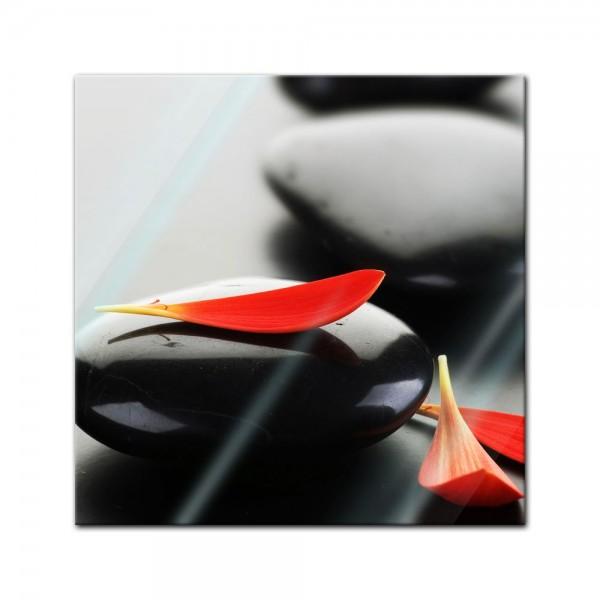 Glasbild - Zen Steine XIV