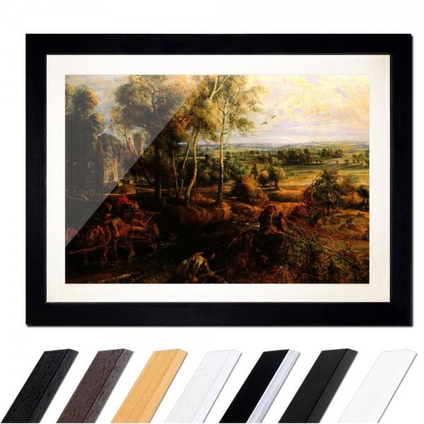 Peter Paul Rubens - Landschaft mit Ansicht von Schloss Steen
