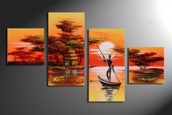African Dreams M3 - 4 Bilder 80x50 KOMPLETT Handgemalt