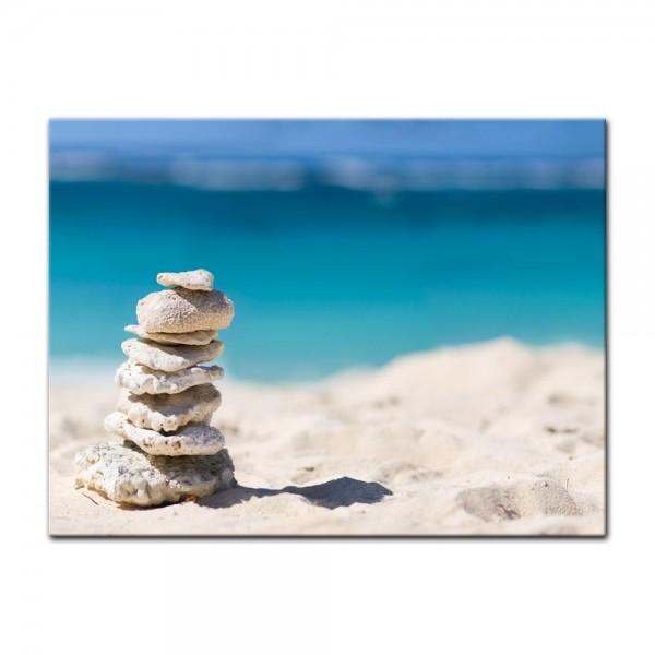 Leinwandbild - Steine am Strand