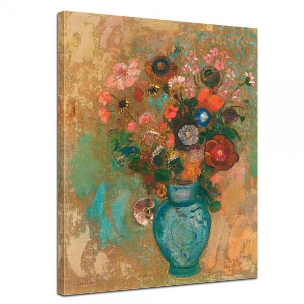 SALE Leinwandbild - Odilon Redon Blumen in Einer blauen Vase - 60x80 cm