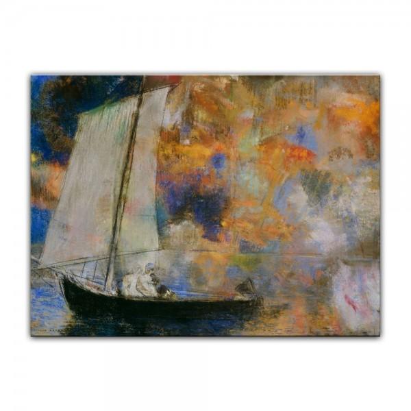 Leinwandbild - Odilon Redon - Blumen und Wolken