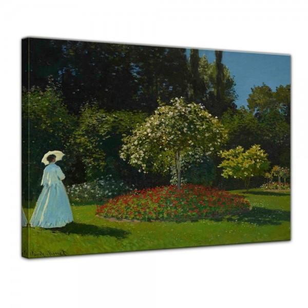 SALE Leinwandbild - Claude Monet Frau im Garten - 120x90 cm