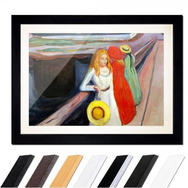 Edvard Munch - Mädchen auf der Brücke I