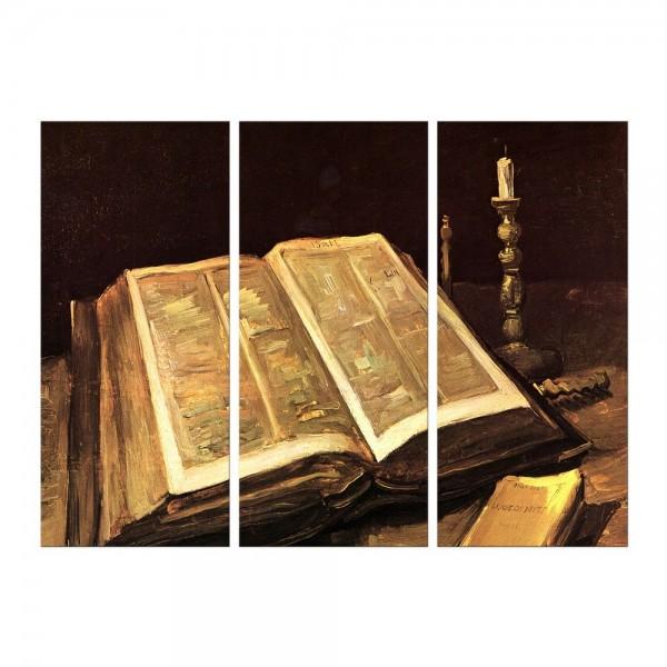 Leinwandbild - Vincent van Gogh - Stillleben mit Bibel