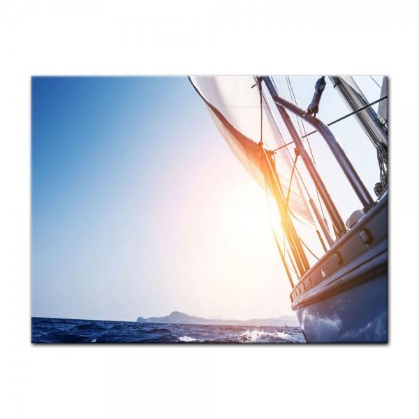 Leinwandbild - Yacht auf See II