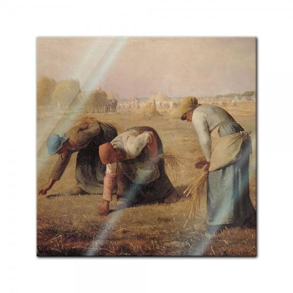 Glasbild Jean-François Millet - Alte Meister - Die Aehrenleserinnen