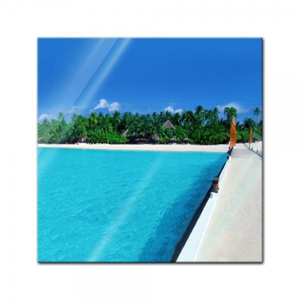 Glasbild - Malediven