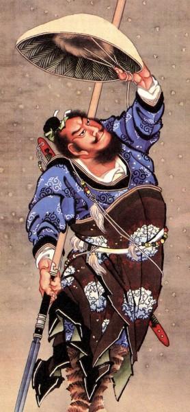 Fototapete Katsushika Hokusai - Alte Meister - Samurai