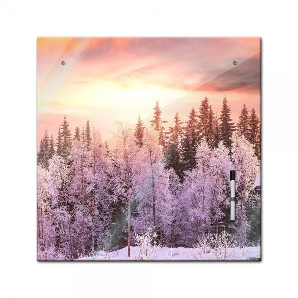 Memoboard - Landschaft - Winterlandschaft - 40x40 cm