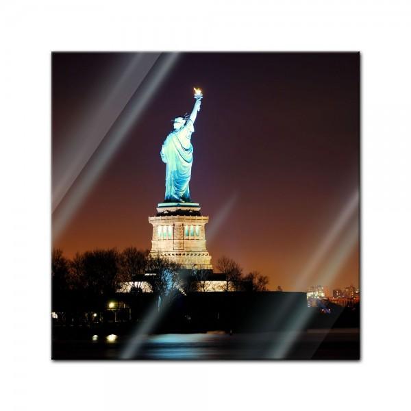 Glasbild - Freiheitsstatue New York City