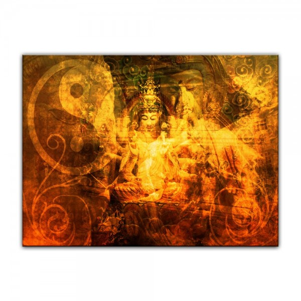 Leinwandbild - Buddha Urban