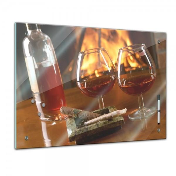 Memoboard - Männermotive - Cognac und Zigarre