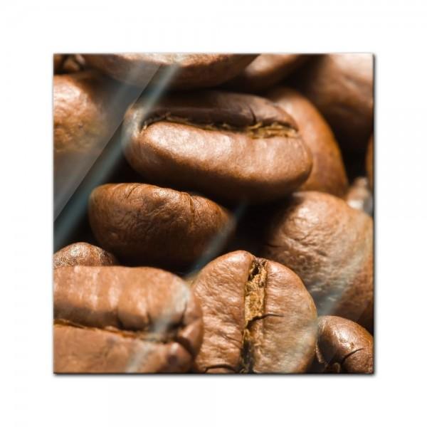 Glasbild - Kaffeebohnen