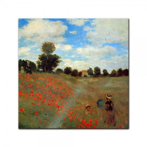 Glasbild Claude Monet - Alte Meister - Mohnfeld bei Argenteuil