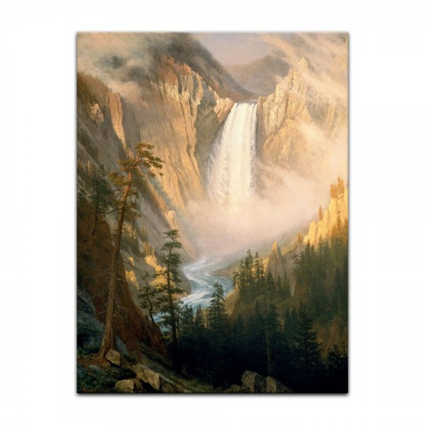 Leinwandbild - Albert Bierstadt - Yellowstone Falls
