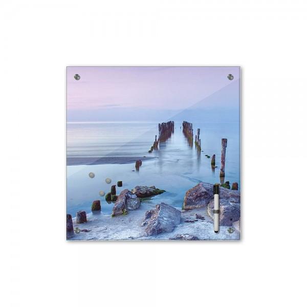 Memoboard - Landschaft - Alter Steg - 40x40 cm