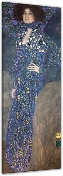 SALE Leinwandbild - Gustav Klimt Portrait der Emelie Flöge - 40x120 cm