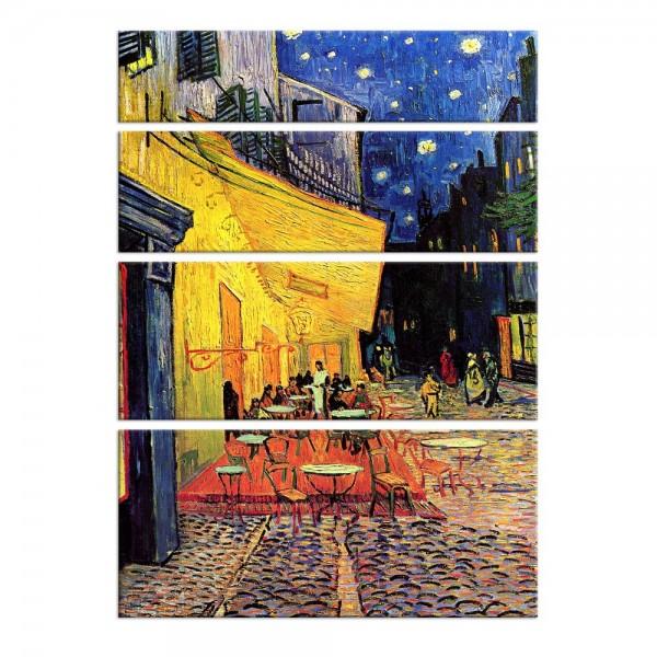 Leinwandbild - Vincent van Gogh - Caféterrasse am Abend