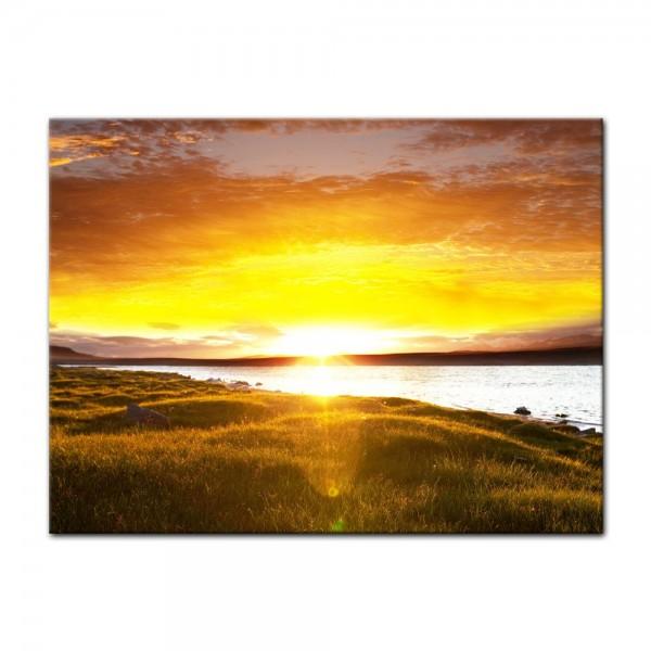 Leinwandbild - Sunset - Sonnenuntergang