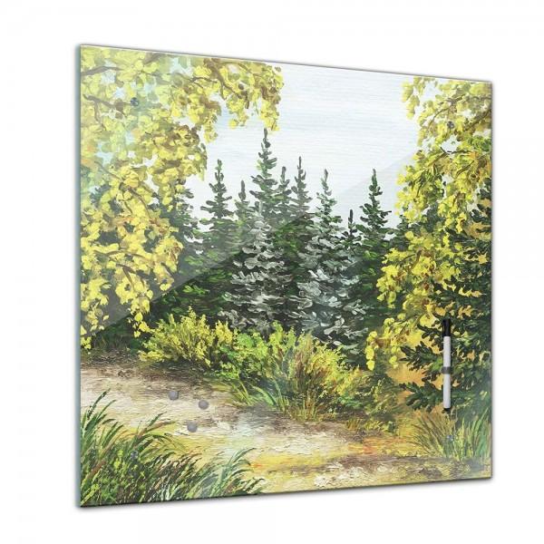 Memoboard - Aquarelle - Wald - 40x40 cm