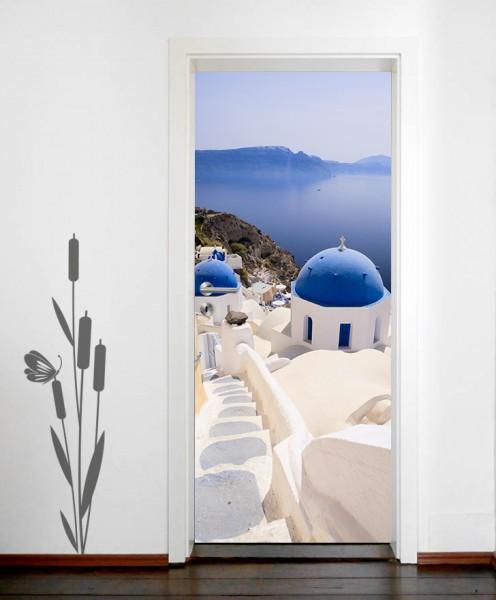 Türaufkleber Santorini View - Griechenland