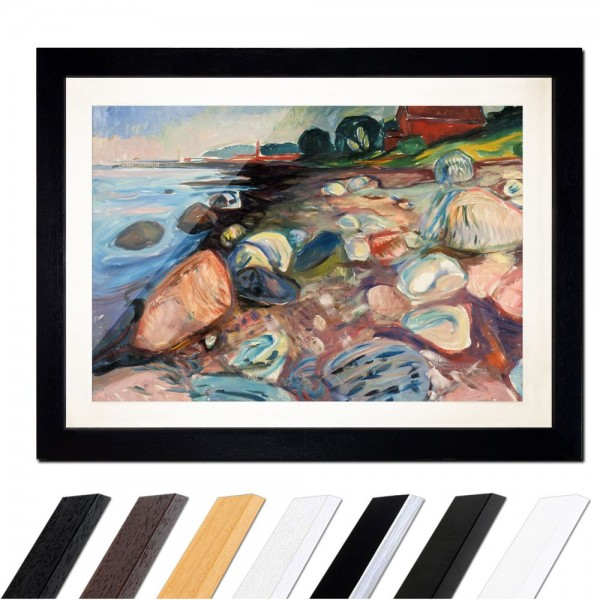 Edvard Munch - Shore with Red House - Küste mit rotem Haus