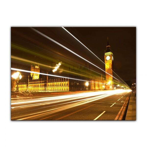 Leinwandbild - Big Ben at Night - London UK