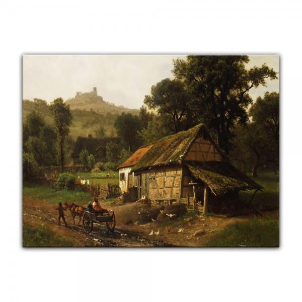 Leinwandbild - Albert Bierstadt - In the Foothills
