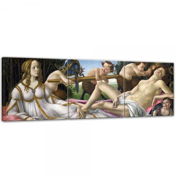 SALE Leinwandbild - Sandro Botticelli Venus und Mars - 90x30 cm 3tlg