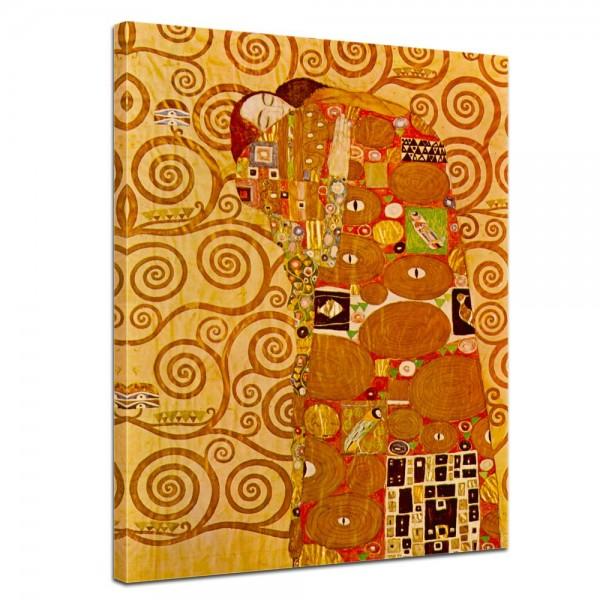 SALE Leinwandbild - Gustav Klimt Die Erfüllung - 90x120 cm