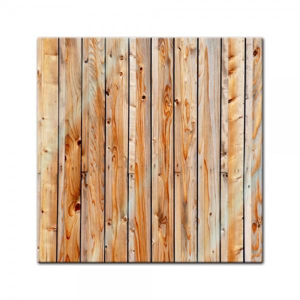 Glasbild - Holzplanken 30x30 cm