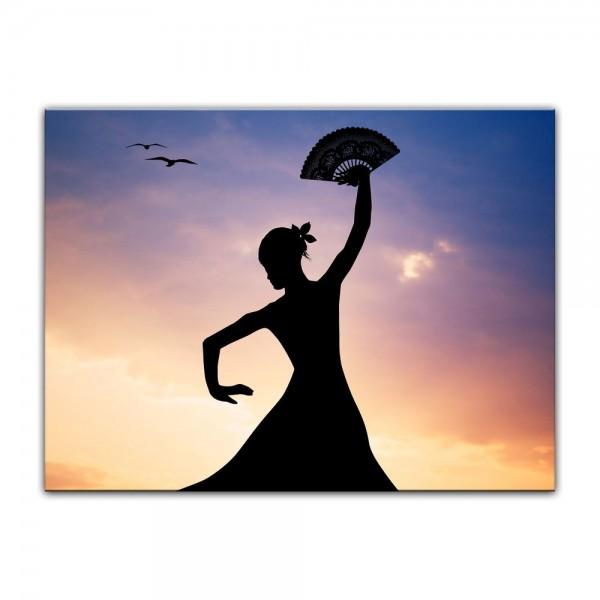 Leinwandbild - Flamencotänzerin