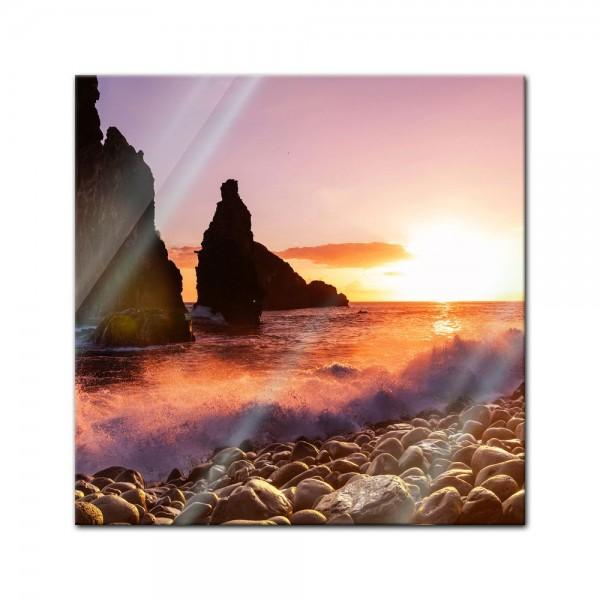 Glasbild - Küste von Madeira II