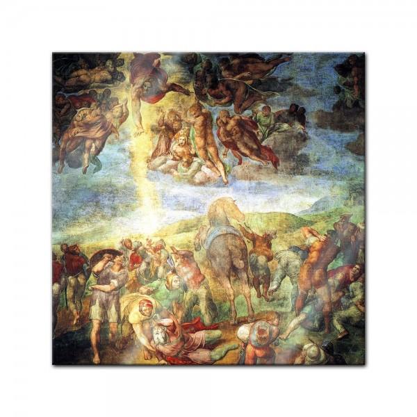 Glasbild Michelangelo - Alte Meister - Die Bekehrung des Saulus