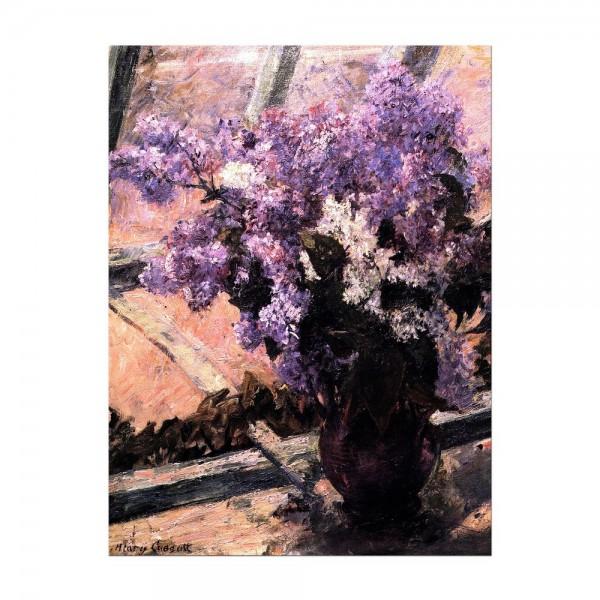Leinwandbild - Mary Cassatt - Flieder in einem Fenster