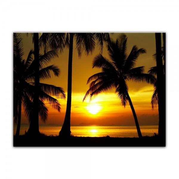 Leinwandbild - Sonnenuntergang in der Nähe des Äquators
