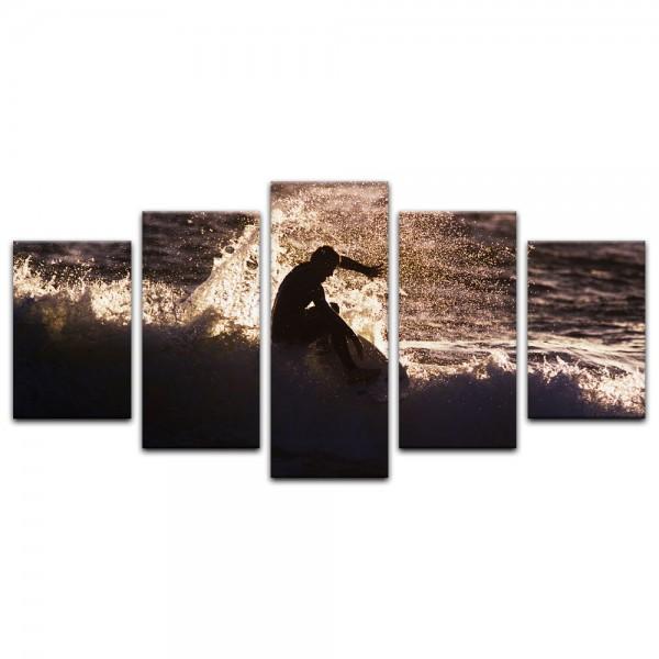 Leinwandbild - Surfing