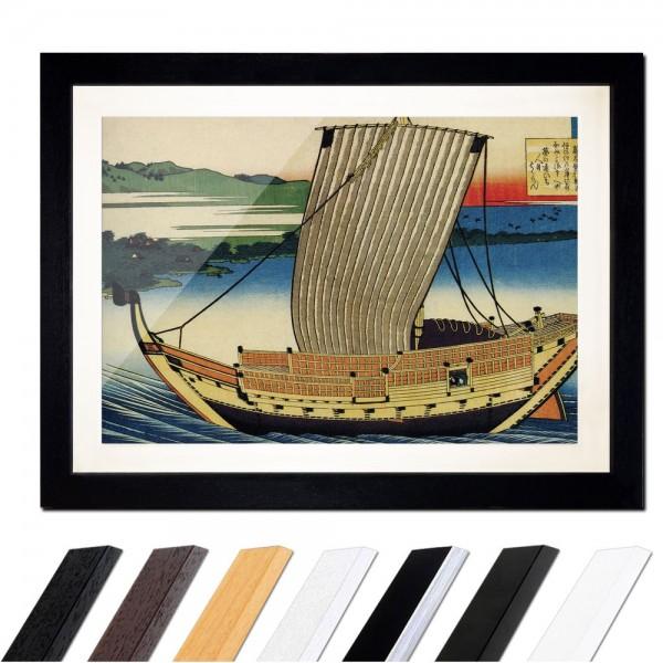 Katsushika Hokusai - Poem by Fujiwara no Toshiyuki Ason