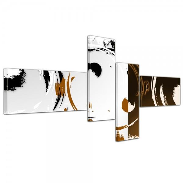 Abstrakte Kunst Abstrakt XIII - 200x90cm 4 teilig