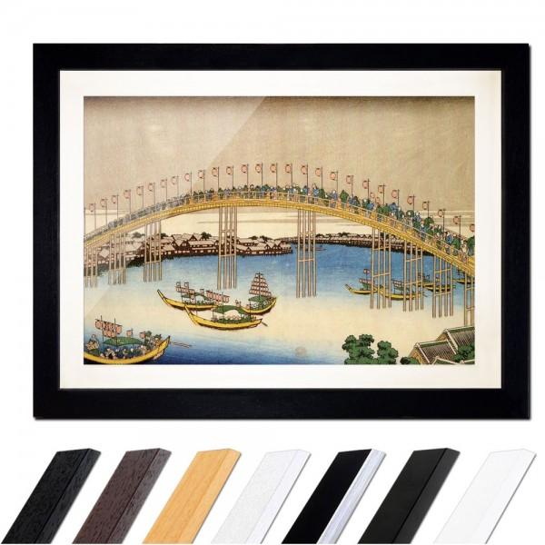 Katsushika Hokusai - Temma-Brücke in der Settsu Provinz